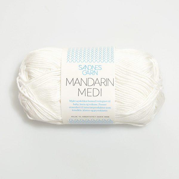 Sandnes Garn - Mandarin Medi in Weiß