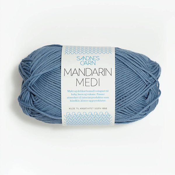 Sandnes Garn - Mandarin Medi in Graublau