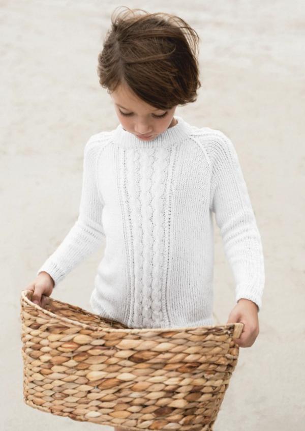 Kinder Strickpulover in Weiß