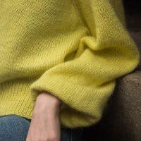 gelbe Wolle für Cardigan