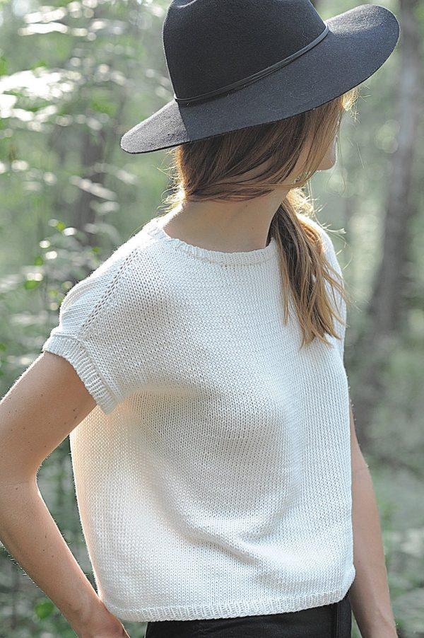 Strickshirt in Weiß