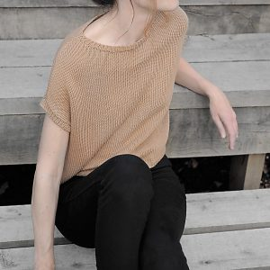 Strickshirt in Beige