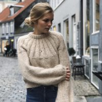 Strickpulover Oversize in Beige